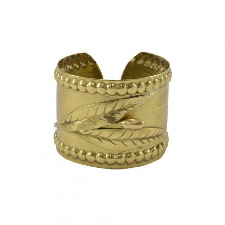 Βrass bracelet, hummery with olive branch subject