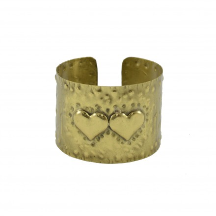 Brass bracelet, hummery with 2 hurts subject
