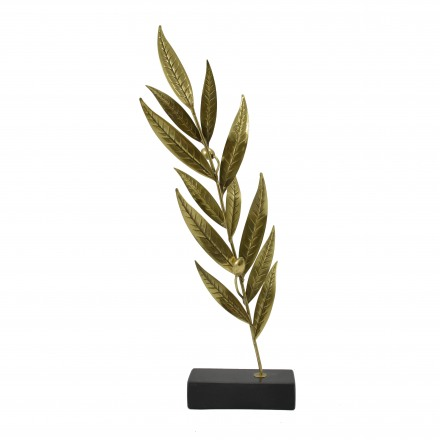 Olive branch on marble
