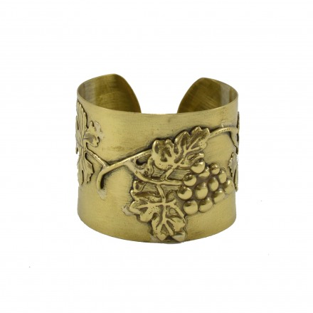 Brass bracelet with the vineyard subject