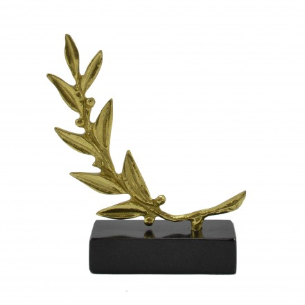 Casting bronze, olive branch on marble